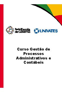 Curso gestão de processos administrativos e contábeis