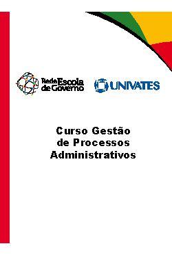 Curso gestão de processos administrativos