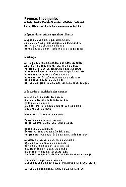 <font size=+0.1 >Poemas Inconjuntos</font>