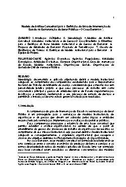 Modelo de Análise Conceitual para a Definição do Grau de I ...