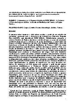 Metodologia para Planos de Cargos e Salários (PCS) e Quadr ...