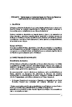 Elaboração e Implementação do Plano de Reforma Institucion ...