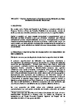 Revisão Institucional e Organizacional do Ministério do Me ...