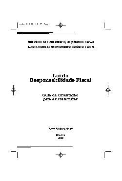 Lei de responsabilidade fiscal: guia para prefeituras