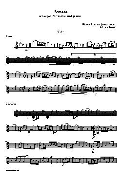 Sonata arrange for violin and piano (violin) - partitura