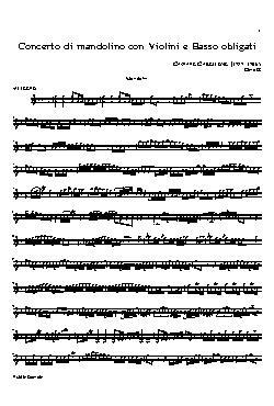 Concerto di mandolino con violini e basso obligati(mandoli ...