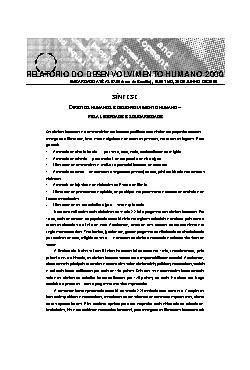 Relatórios do Desenvolvimento Humano - RDH 2000 -Direitos  ...