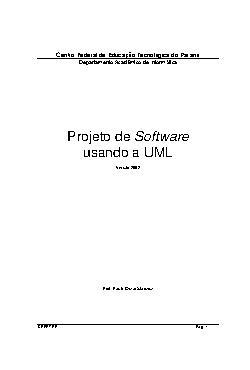 Projeto de Software usando UML