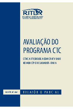 Avaliação do programa CTC: ciência e tecnologia com criati ...