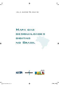 Mapa das desigualdades digitais no Brasil