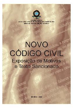 Novo código civil: exposição de motivos e textos sancionad ...