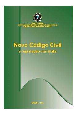 Novo código civil e legislação correlata