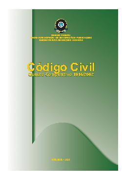 Novo código civil - quadro comparativo 1916/2002