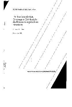 TD 0014 - Política Econômica, Emprego e Distibuição da Ren ...