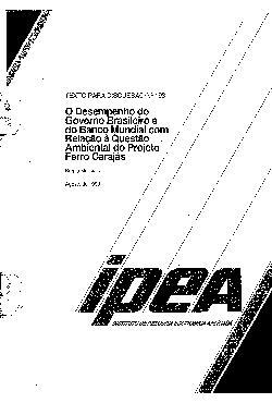 TD 0193 - O Desempenho do Governo Brasileiro e do Banco Mu ...