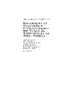 TD 0263 - Indicadores da Qualidade e Produtividade - Um Re ...