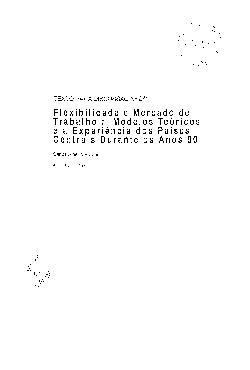 TD 0271 - Flexibilidade e Mercado de Trabalho: Modelos Teó ...