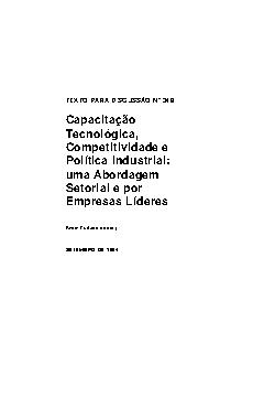 TD 0348 - Capacitação Tecnológica, Competitividade e Polític[..]