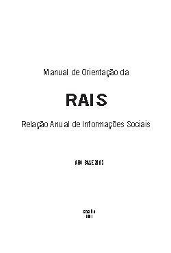 Manual de Orientação da RAIS: Relação Anual de Informações ...