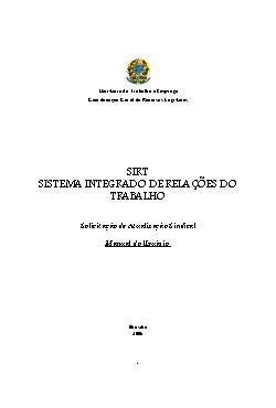 SRIT: Sistema Integrado de relações do trabalho