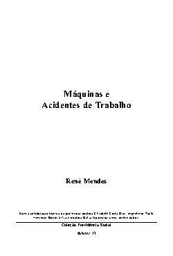 Máquinas e acidentes de trabalho