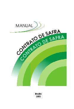 Contrato de safra: manual