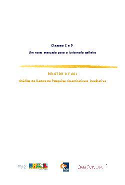Classes C e D, um novo mercado para para o turismo brasile ...