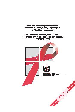 Manual para legisladores em matéria de HIV/SIDA,legislação ...