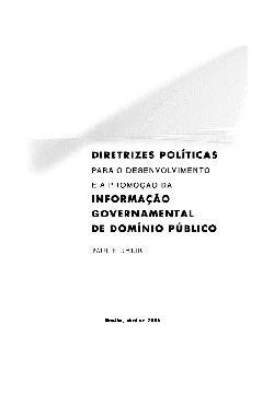 Diretrizes Políticas para o desenvolvimento e a promoção d ...