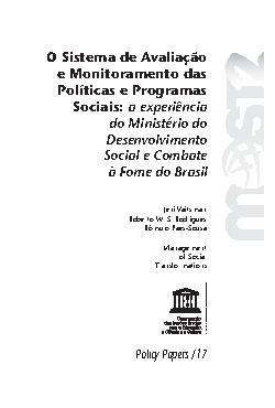O sistema de avaliação e monitoramento das políticas e pro ...