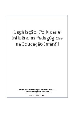Legislação, políticas e influências pedagógicas na Educaçã ...