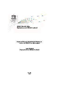 Aspectos éticos da sociedade da informação: a marca da UNE ...