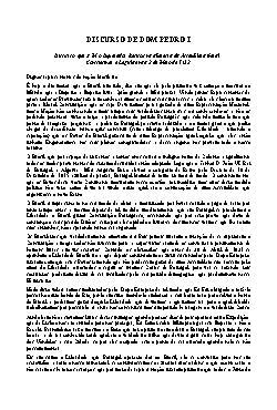 Discurso de Dom Pedro I, recitado na abertura da Assembéia ...